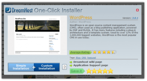 DreamHost's one click installer