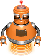 VPS.net's orange robot